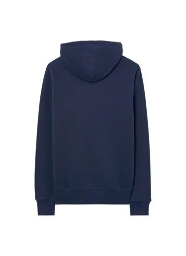 Gant Baskılı Kapüşonlu Sweatshirt Lacivert